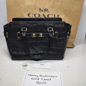 Coach NY Blake Carryall in croc embossed leather